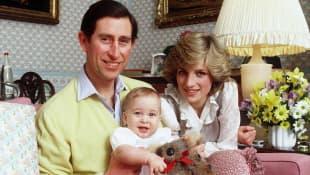 Príncipe Carlos, Príncipe William y Princesa Diana