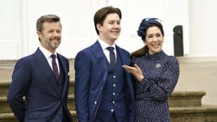Crown Prince Frederik, Prince Christian and Crown Princess Mary