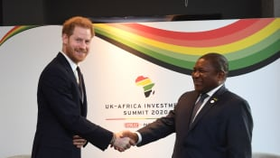 Prince Harry and the President of Mozambique