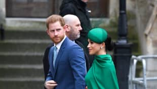 Prince Harry and Duchess Meghan at the Commonwealth Day Service on Monday.