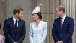 Prince Harry, Duchess Kate, and Prince William