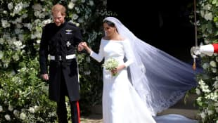 El príncipe Harry y Meghan, duquesa de Sussex el día de su boda en el castillo de Windsor.