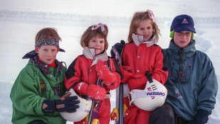 Prince William, Prince Harry, Princess Beatrice, and Princess Eugenie