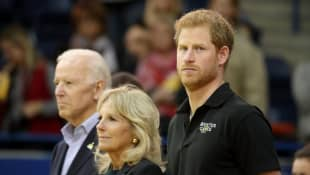 Prince Harry and Jill Biden