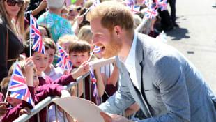 Prince Harry Visits Oxford Children's Hospital