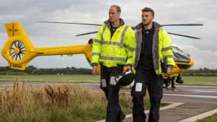 Prince William worked as an air ambulance pilot