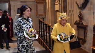 Princesa Eugenia y la reina Isabel II