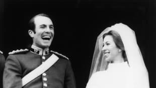 Lieutenant Mark Phillips and Princess Anne