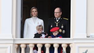 Princess Charlene, Prince Albert, Prince Jaques and Princess Gabriella