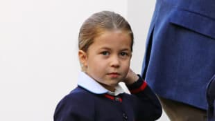 Princess Charlotte received a surprise gift from Netball Champion Geva Mentor.
