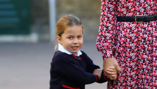 Princess Charlotte of Cambridge arrives for her first day of school at Thomas's Battersea in London on September 5, 2019