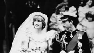 Princess Diana and Prince Charles on their wedding day