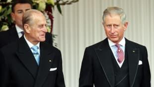 Príncipe Felipe y el príncipe Carlos