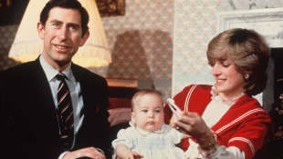 Prince Charles, Prince William and Princess Diana