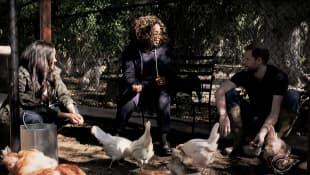 Meghan Markle, Oprah Winfrey y el príncipe Harry