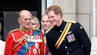 Príncipe Felipe y el príncipe Harry