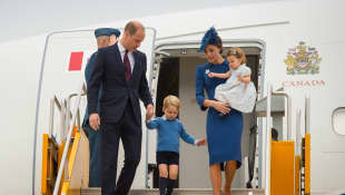 Los príncipes William, George, Charlotte y la duquesa de Cambridge, Kate Middleton