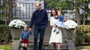 Kate Middleton y los príncipes William, George y Charlotte