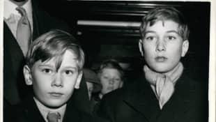 Los Príncipes William y Richard de Gloucester en 1953