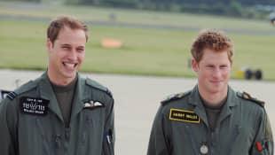 Príncipes William y Harry de la familia real británica