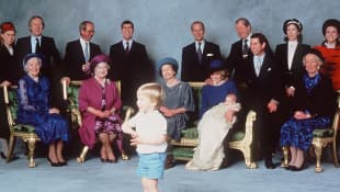 Prince Harry's christening picture