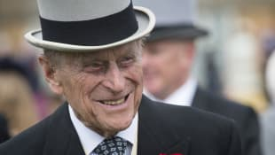 Prince Philip at a garden party at Buckingham Palace on May 16, 2017