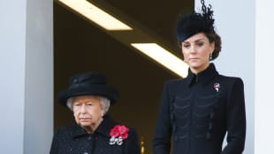 Queen Elizabeth and Duchess Catherine