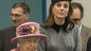 Queen Elizabeth II and Duchess Kate