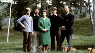 Prince Edward, Prince Charles, Queen Elizabeth, Prince Edward, and Prince Philip