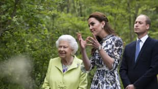 Queen Elizabeth II, Duchess Kate, Prince William