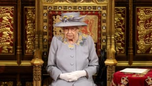 Queen Elizabeth II Attends First State Opening Without Prince Philip
