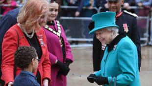 Queen Elizabeth II visits children's charity Coram