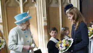 Queen Elizabeth and Princess Beatrice