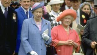 La reina Isabel II y la reina Isabel La Reina Madre