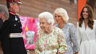 Queen Elizabeth II, Duchess Camilla and Duchess Kate