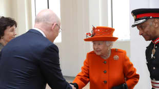 Queen Elizabeth II Shaking Hands
