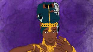 Ilustración de la Reina Arawelo