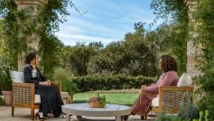 Meghan Markle and Oprah Winfrey