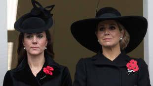 La Reina Máxima de los Países Bajos y la Duquesa de Cambridge Kate Middleton