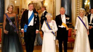 Los reyes de los Países Bajos en una visita de estado en el palacio de Buckingham en 2018