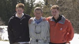 Príncipe Harry, el príncipe Carlos y el príncipe William