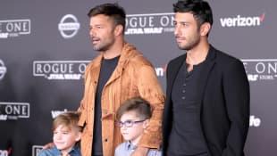 Ricky Martin, Jwan Yosef and their children