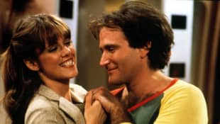 Pam Dawber and Robin Williams in 'Mork & Mindy'