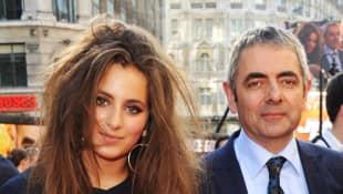 Rowan Atkinson y su hija Lily