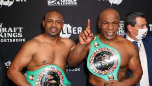 Roy Jones Jr. and Mike Tyson