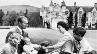 Queen Elizabeth II, Prince Philip, Prince Charles, Princess Anne and Prince Andrew