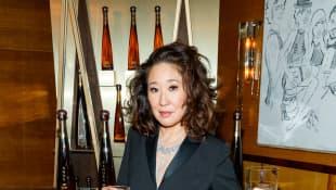 Sandra Oh en la fiesta privada de los Globos de Oro 2019