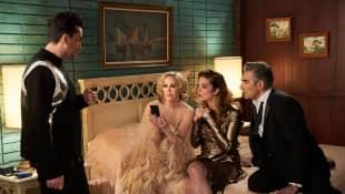 Dan Levy, Catherine O'Hara, Eugene Levy, and Annie Murphy in 'Schitt's Creek' season 6