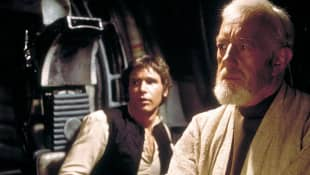 Sir Alec Guinness and Harrison Ford
