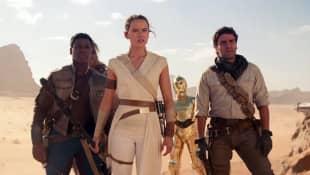 John Boyega, Daisy Ridley y Oscar Isaac